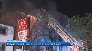Toronto heritage up in flames: former Peacock Hotel burns